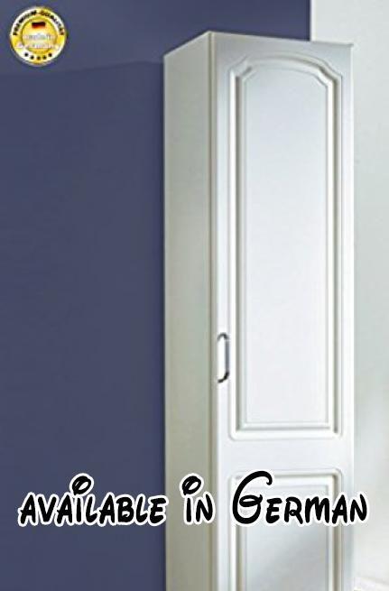 B01BV6D0I0  Kleiderschrank 99337 Schlafzimmerschrank 1-türig weiß - schlafzimmerschrank weiß hochglanz