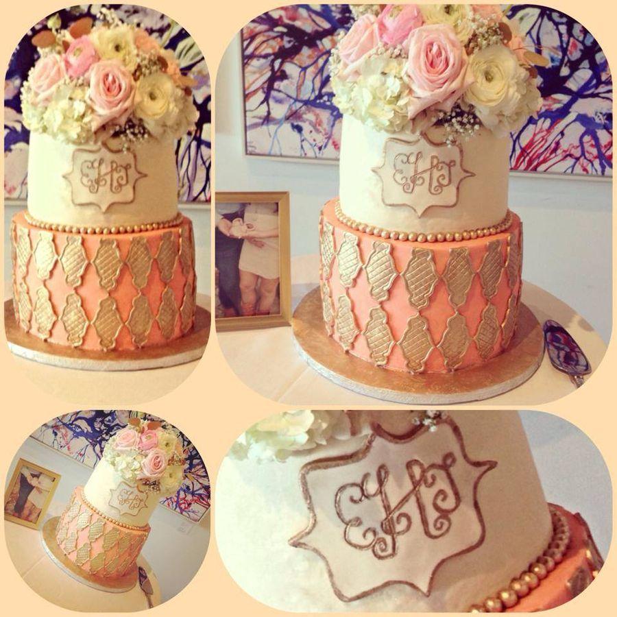 Beautiful baby shower cake.