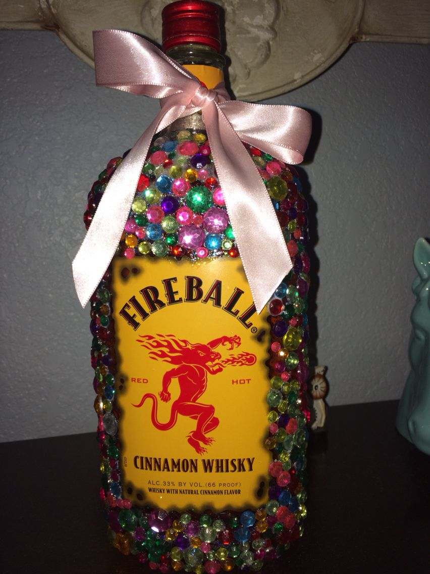 Bedazzled fireball for 21st birthday 21st birthday gifts