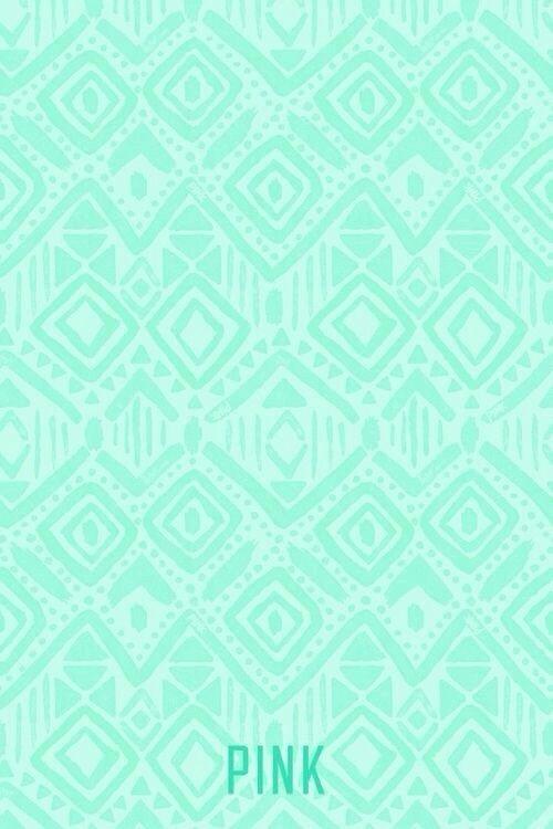 Pink Mint Background Aztec Phone Wallpaper Green Iphone Vs