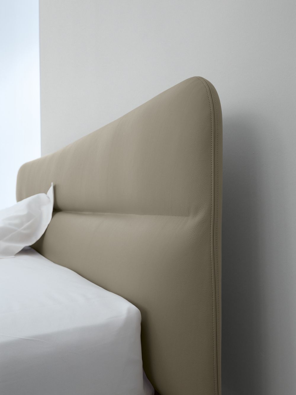 AMOS BED Materials: Polyurethane Foam, Padded Wooden Headboard. Beechwood  Slats, Removable Cover