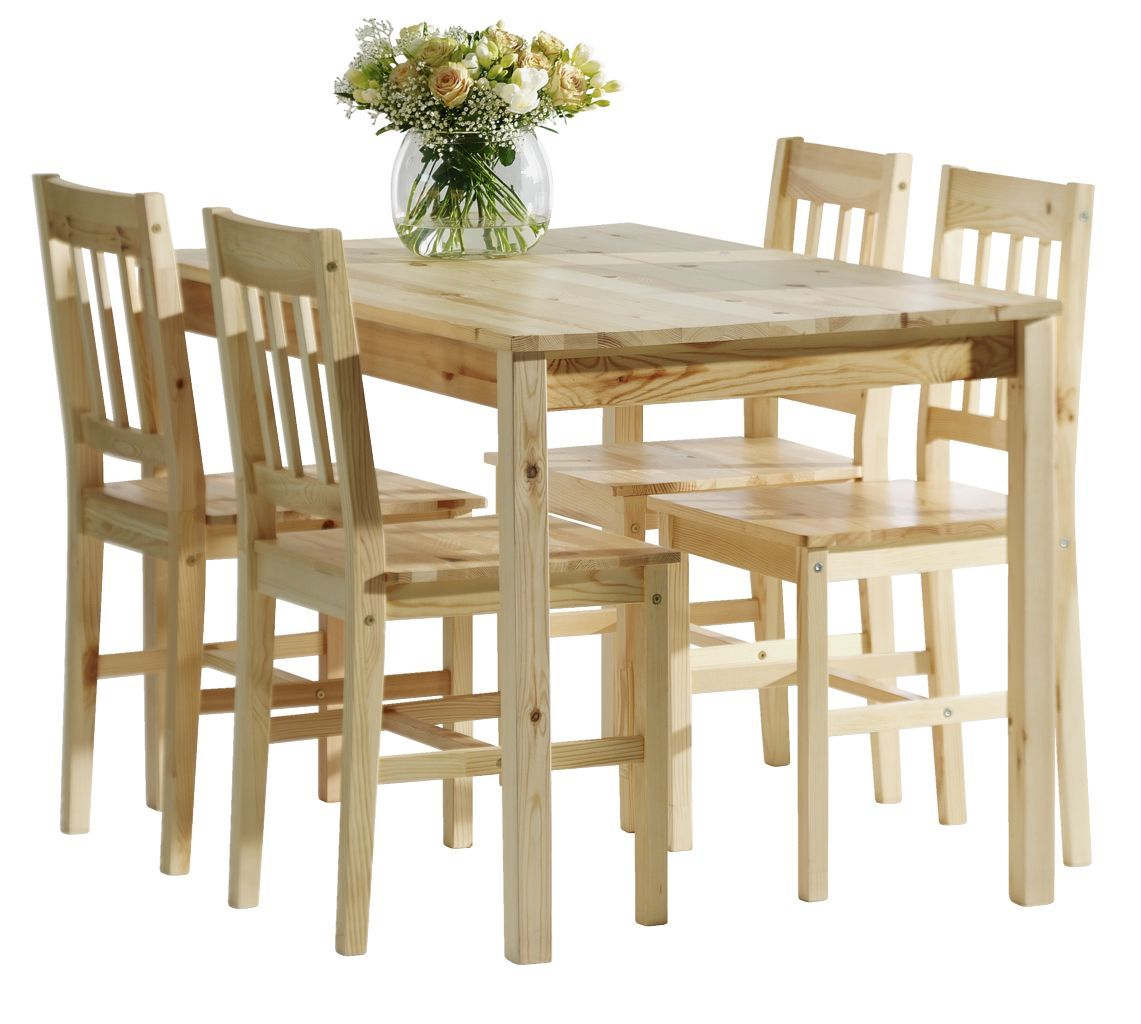 Pine Kitchen Tables And Chairs Jysk Furniture Dining Table W 4 Chairs Lacquered Pine House