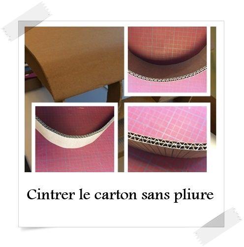 Cintrer Le Carton Sans Pliure Carton Carton Meuble En Carton Et