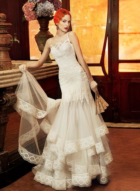 1920 S Style Wedding Dress