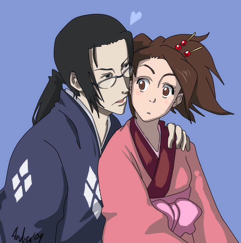 Samurai Champloo Fuu And Mugen Kiss