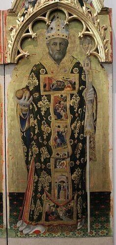 Polittico Quaratesi.  1425. San Nicola da Bari. Uffixi.