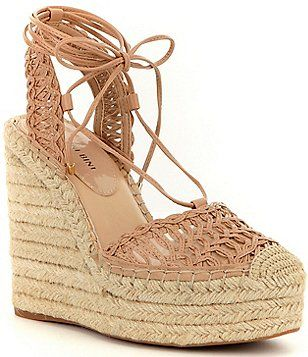 a1b52473fe72 Gianni Bini Magena Lace-Up Espadrille Wedges
