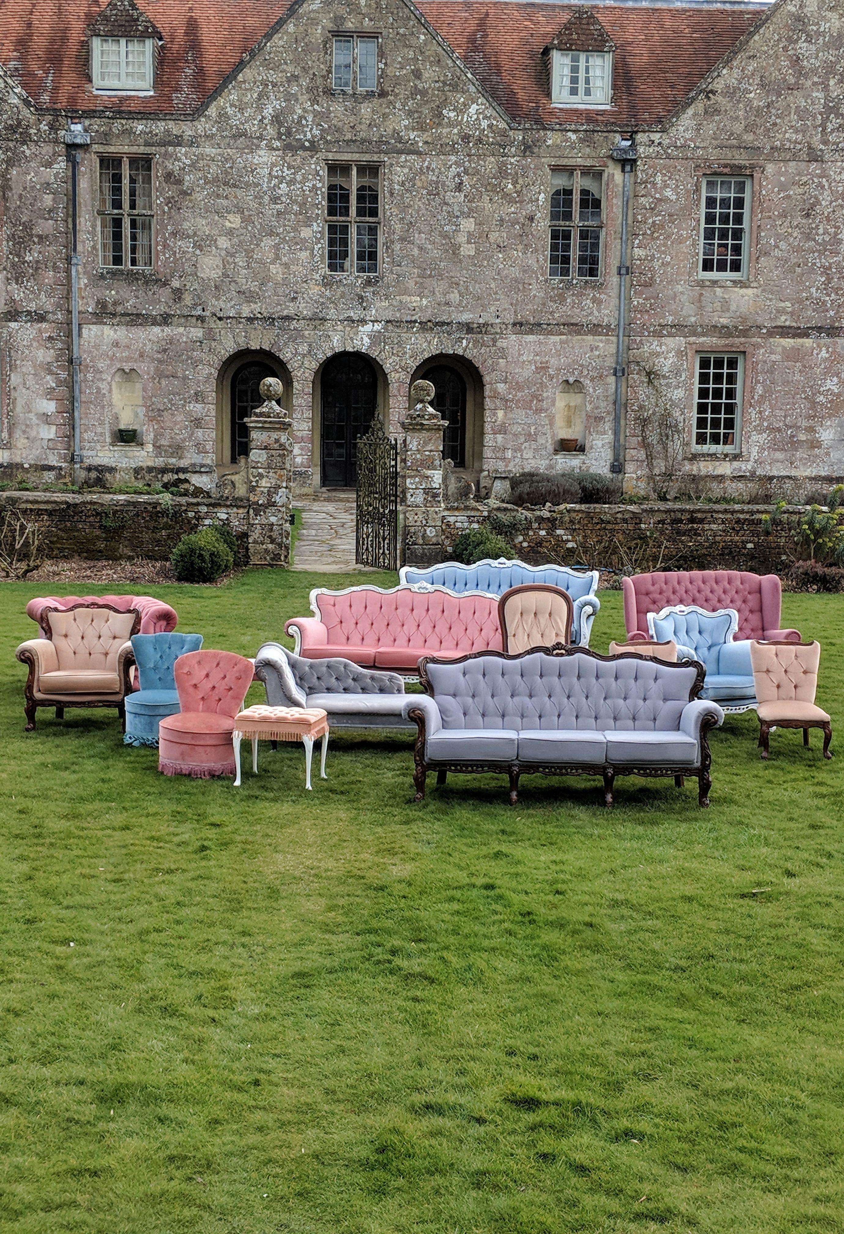 Grey Emily Three Seater Sofa In 2020