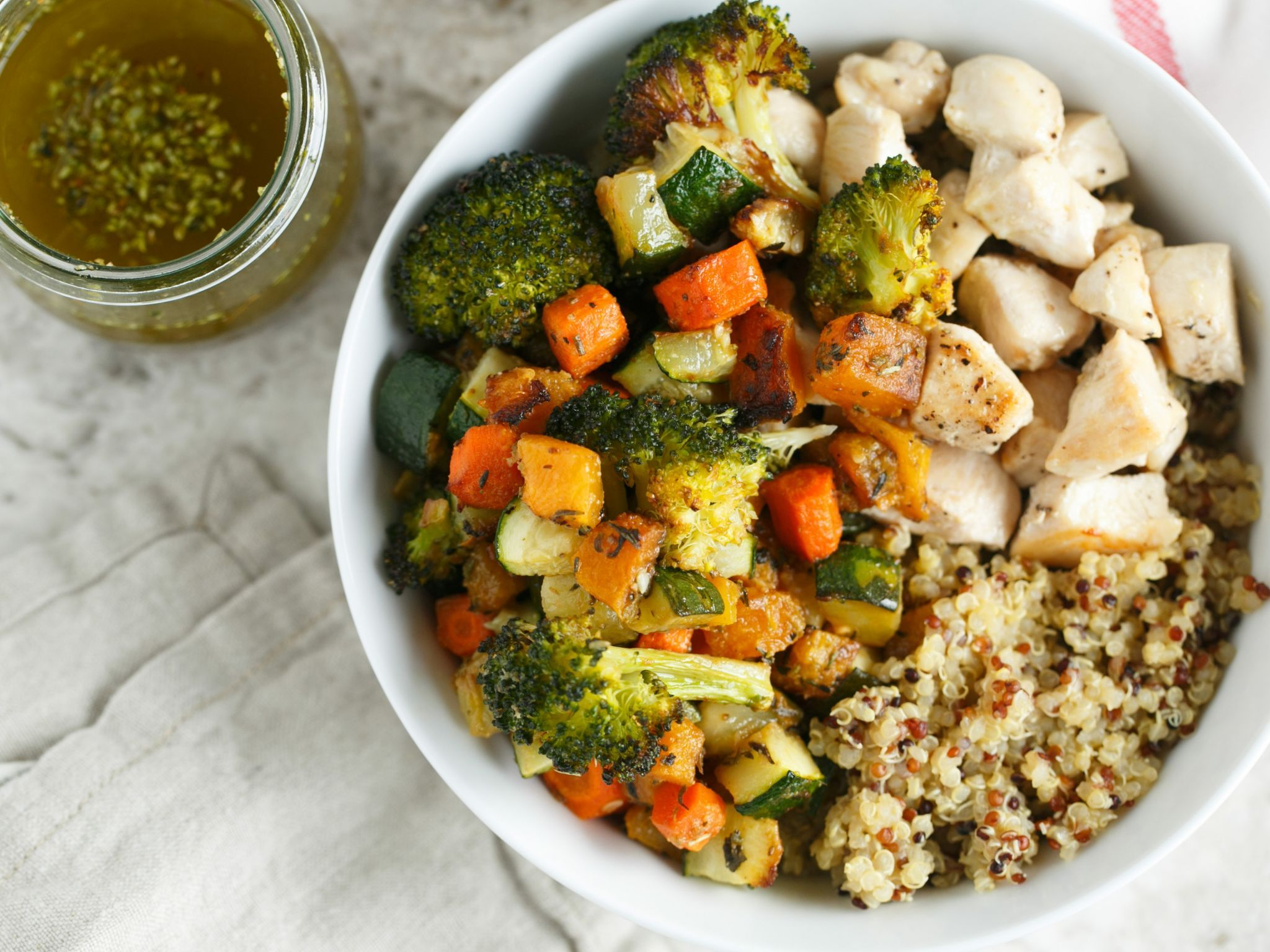 Roasted vegetable and chicken quinoa bowls for two recipe roasted vegetable and chicken quinoa bowls for two forumfinder Images