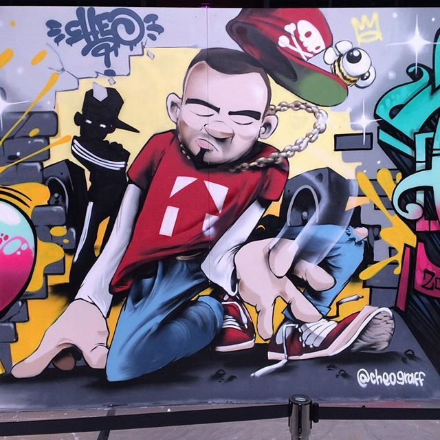 Close up of my breakdance chap painted live and at considerable speed...#cheo #breaker