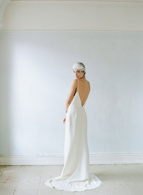 Alexandra Grecco Maia Slip Gown Photo Elizabeth Messina Wedding