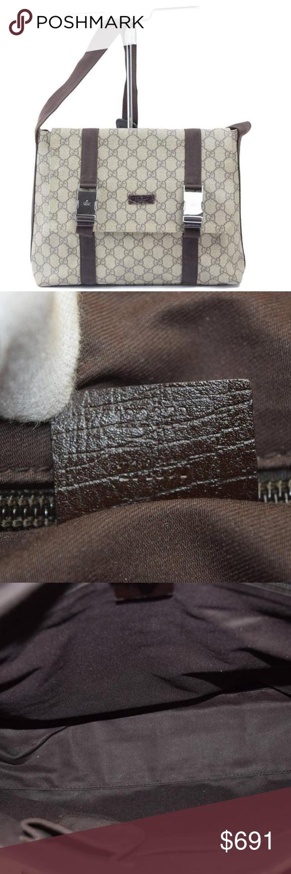 Authentic Gucci Canvas Handbag Authentic Gucci Canvas
