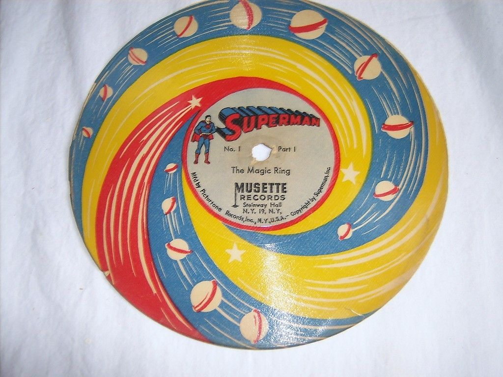 1947 Rare Vintage Superman Record