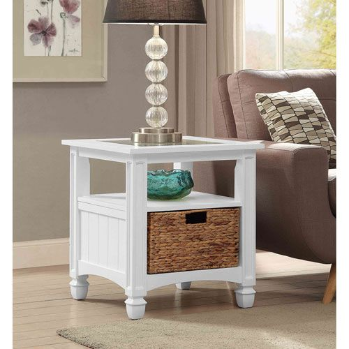 Coast To Coast Imports Harbor Towne End Table, White On SALE