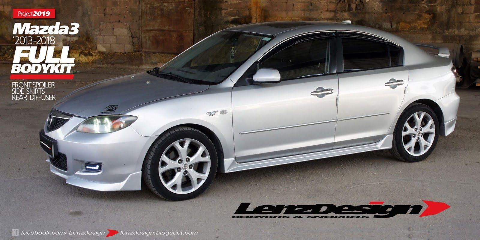 Mazda 3 Bk Lenzdesign Bodykit Spoilers 2003 2004 2005 2006 2007 2008 2009 Mazda 3 Mazda 3 Sedan Mazda