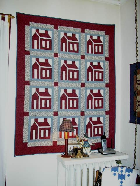 School house made by me.Machine pieced and hand quilted