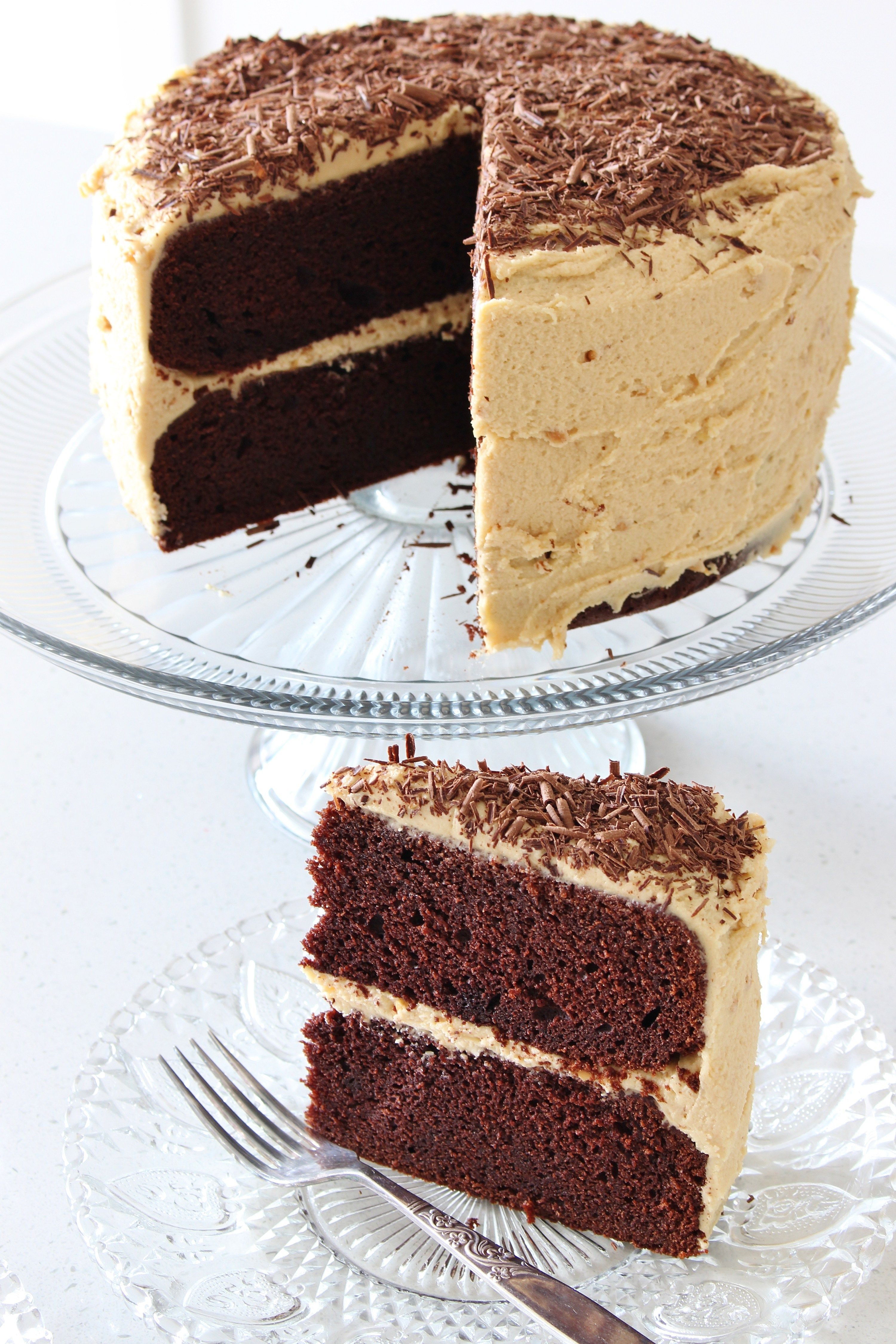 Chocolate Layer Cake With Peanut Butter Frosting Cake Delicious