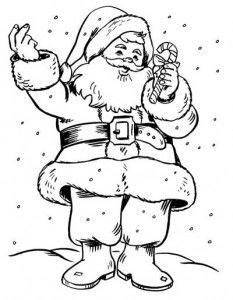 Desenhos Papai Noel Natal Colorir Pintar 4 Desenho De Papai