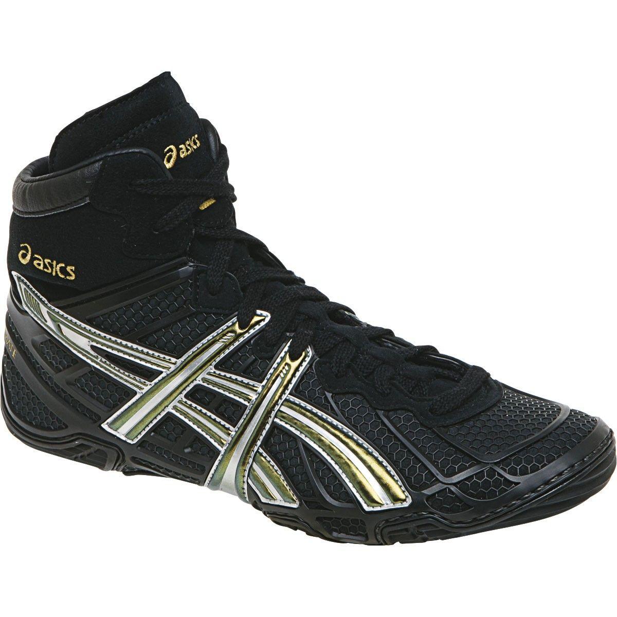 f8c07e9865dde Men s Dan Gable Ultimate 2 Wrestling Shoes - Black Champion Silver- size 7