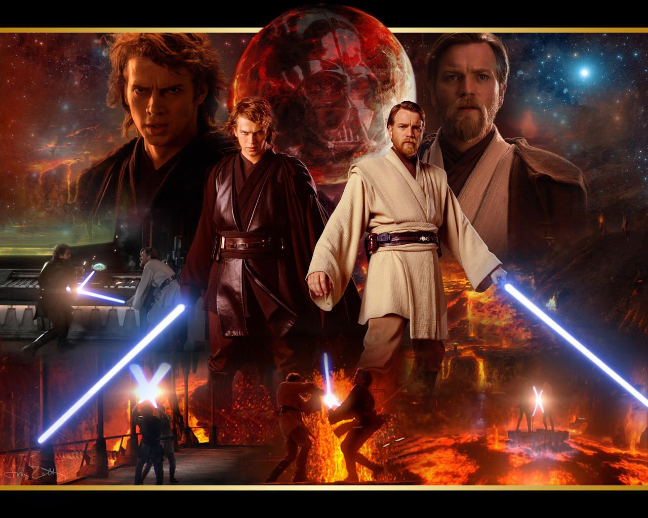 Anakin And Obi Wan Papel De Parede Star Wars Star Wars Poster