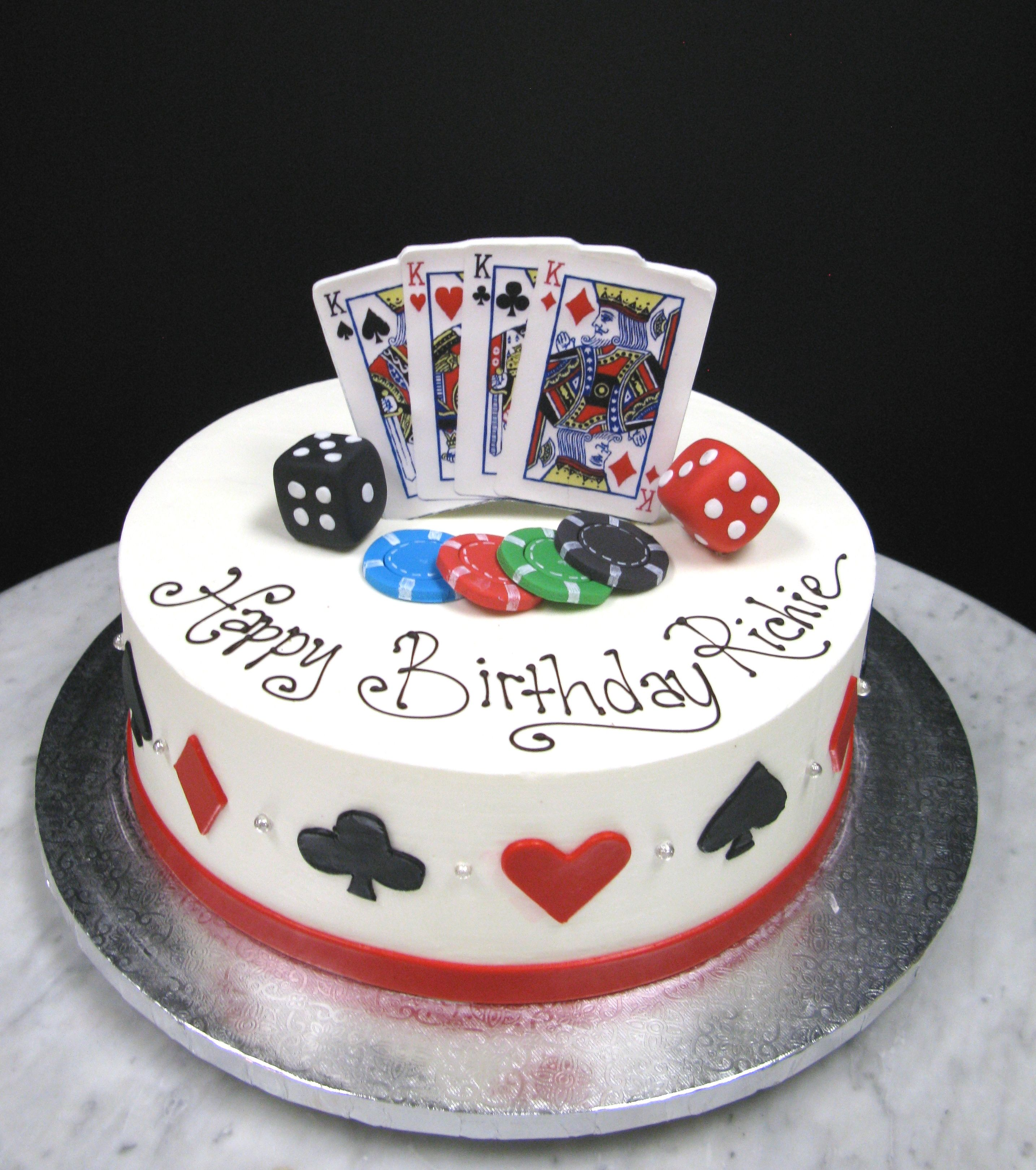 Poker Card Cake Ideas