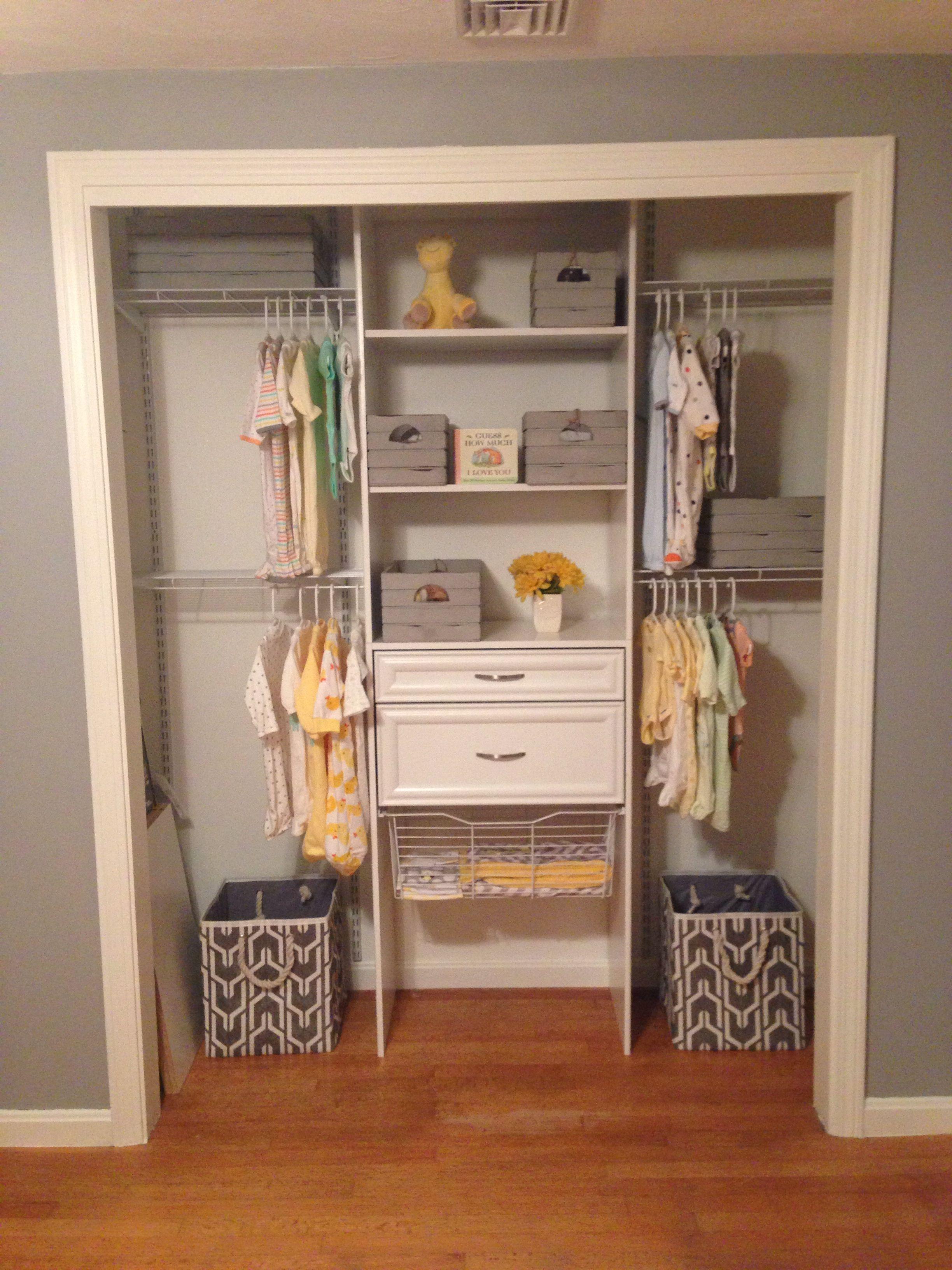Neutral nursery closet | Nursery Ideas | Pinterest | Bebe ...