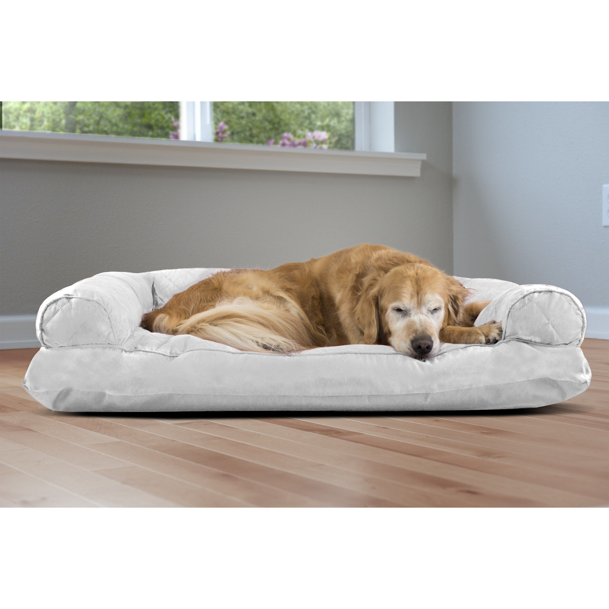 Awesome Furhaven Quilted Pillow Sofa Dog Bed Pet Bed Size Jumbo In Ibusinesslaw Wood Chair Design Ideas Ibusinesslaworg