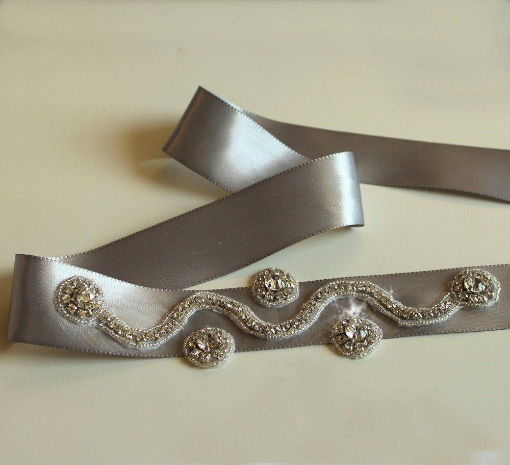 Bridal belt sash wedding dress belt rhinestone belt beaded