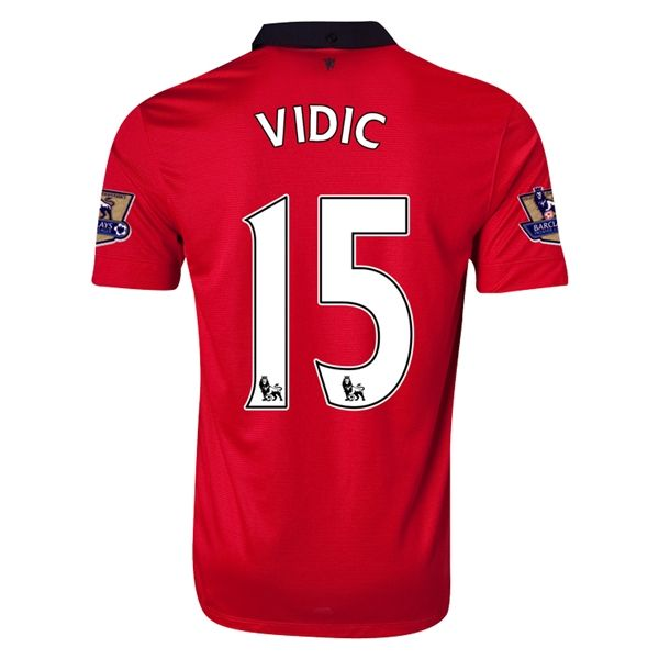 premium selection ce869 88f7f 13-14 Manchester United #15 VIDIC Home Jersey Shirt ...