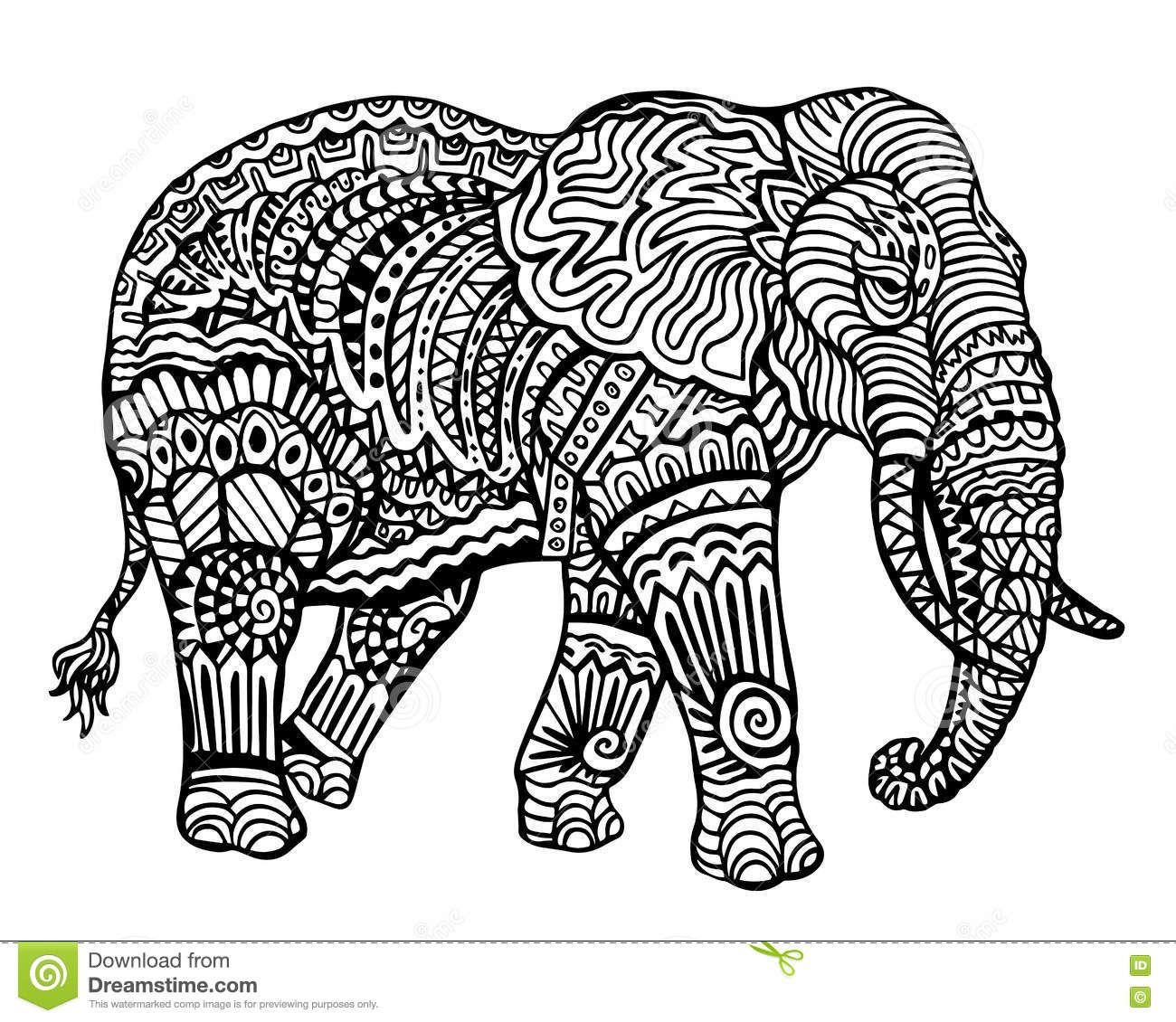 Related Image Vector Kunst Patronen Olifant