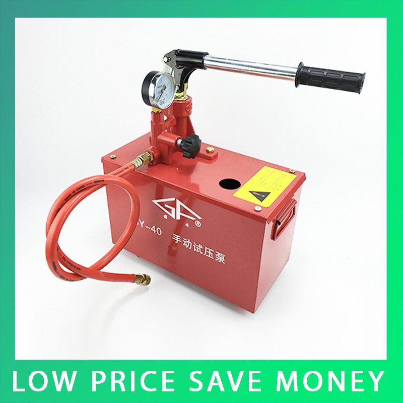 Manual Pressure Test Pump Water Pressure Testing Hand Pump