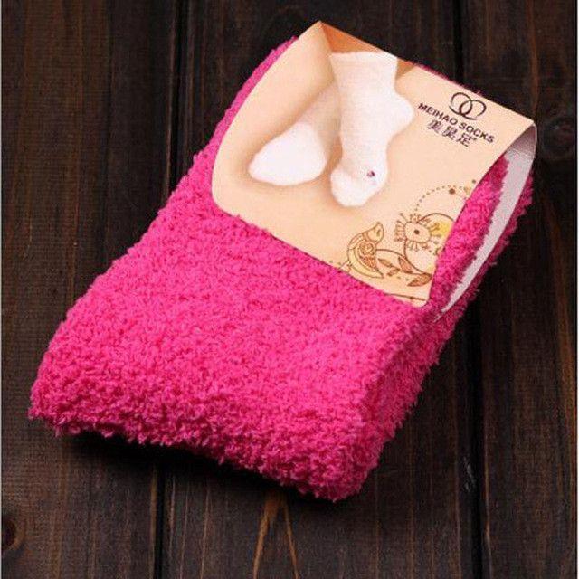 1Pair Girls Bed Socks Fluffy Warm Winter Kids Gift Soft Floor Home Accessorie ZS
