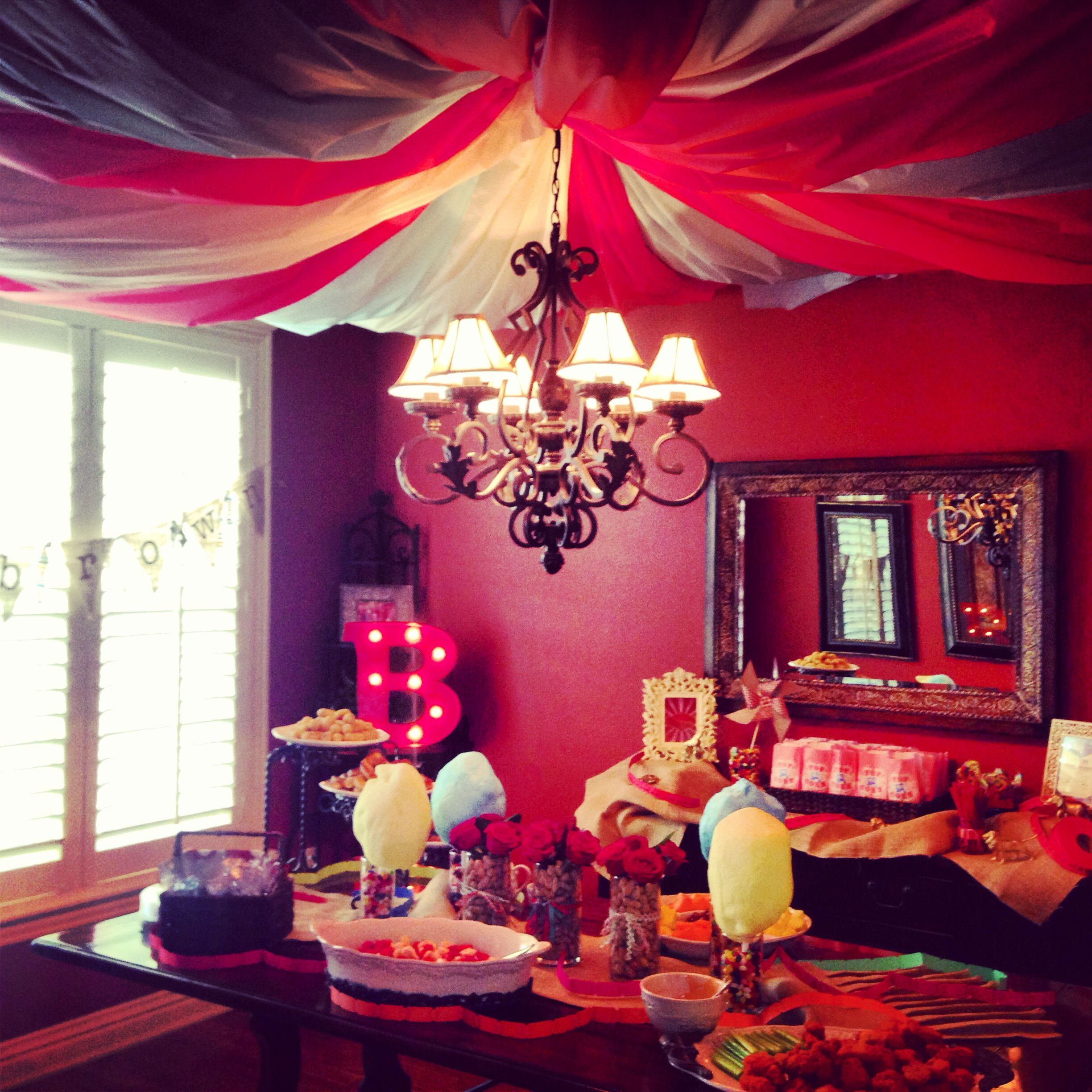 Under The Big Top Room For Circus Themed Baby Shower Use