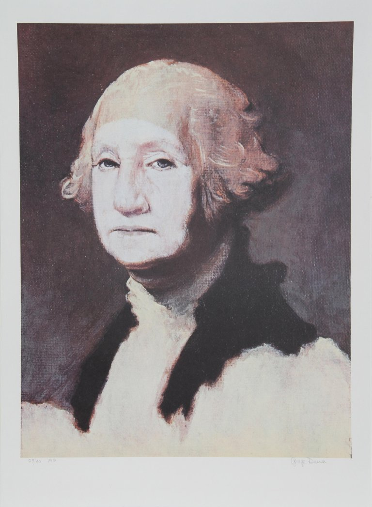 photograph regarding Printable Pictures of George Washington identify George Deem - George Washington with Powder, Portrait