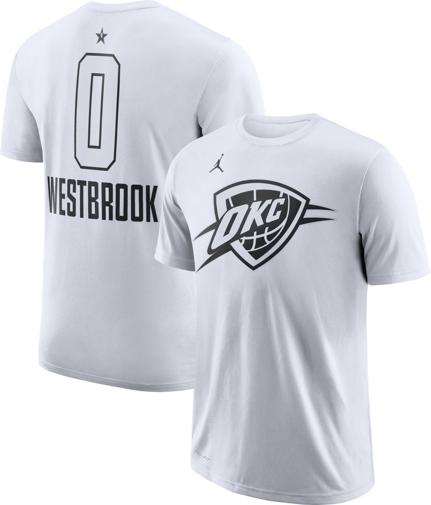 26cb77ce7 Jordan Men s 2018 NBA All-Star Game Russell Westbrook Dri-FIT White  T-Shirt