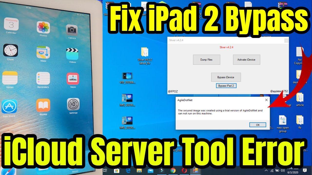 iPad 2 iCloud Bypass How TO Fix iCloud Bypass iPad 2