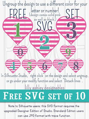 Download Free SVG Files Set of Numbers | Cricut tips and projects ...