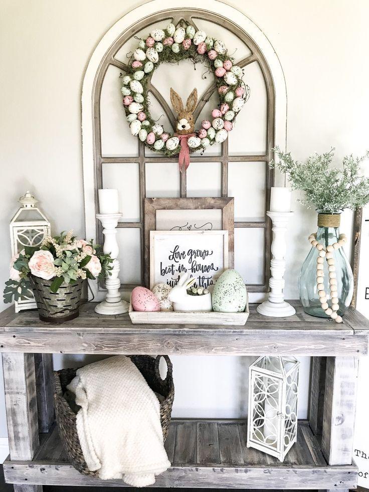 Diy farmhouse easter egg wreath springdecorations