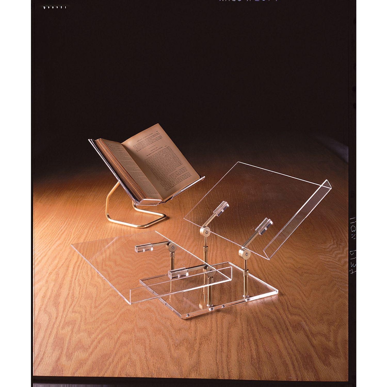 benchmark plexiglass brass horizontal butterfly book mount