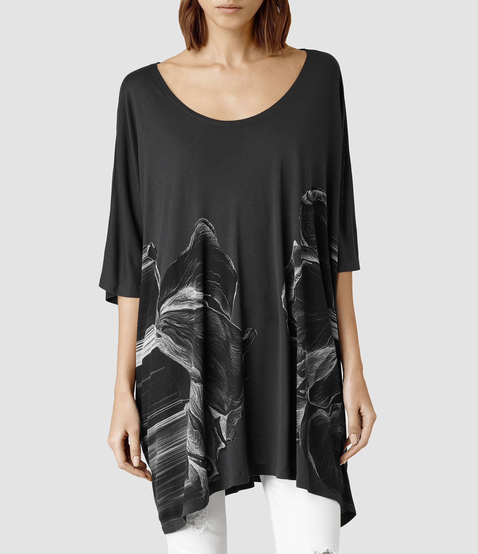 fdf2bd1f526f Womens Onyx Dreams Tee (Washed Black) | ALLSAINTS.com | Fashion ...