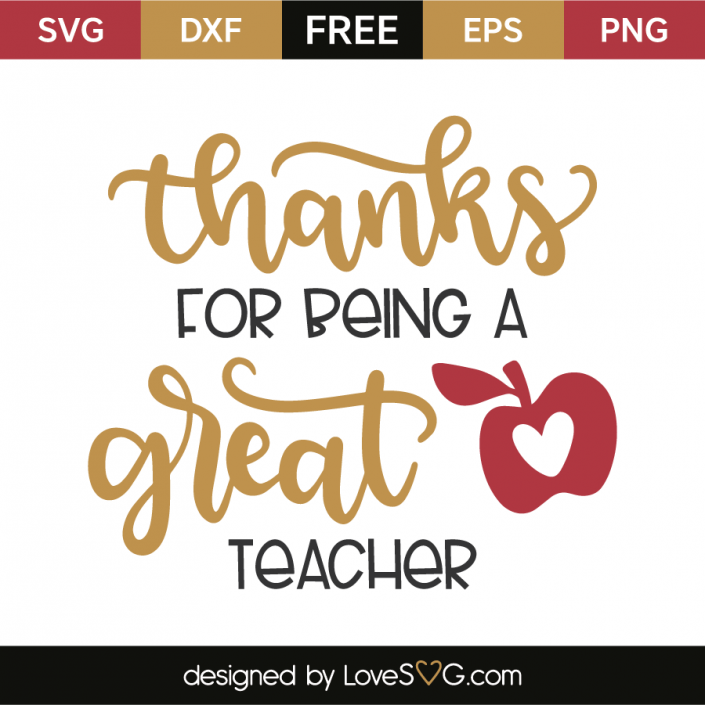 Download Thanks for being a great teacher   Teacher appreciation ...