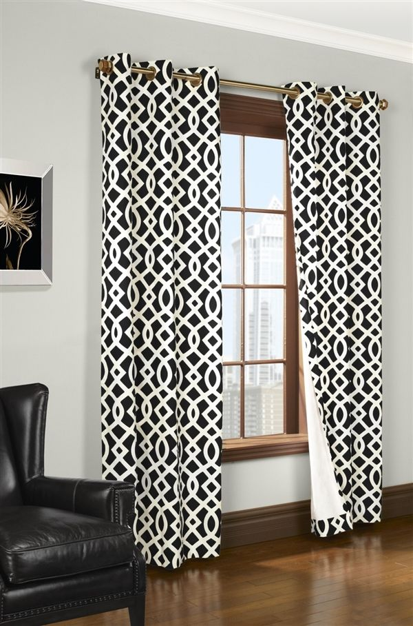 Grommet Top Room Darkening Curtain Pair Using Room Darkening
