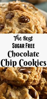 ★★★★★ 200 Reviews: #Recipe #Chocolate >> The Formula For The Best Sugar-Free Chocolate Chip Treats | ~02 Webdeliziouso #sugarfreedesserts