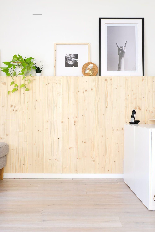Diy Holzwand Skandinavisch Wohnen Mit Fichtenholz Gingered T