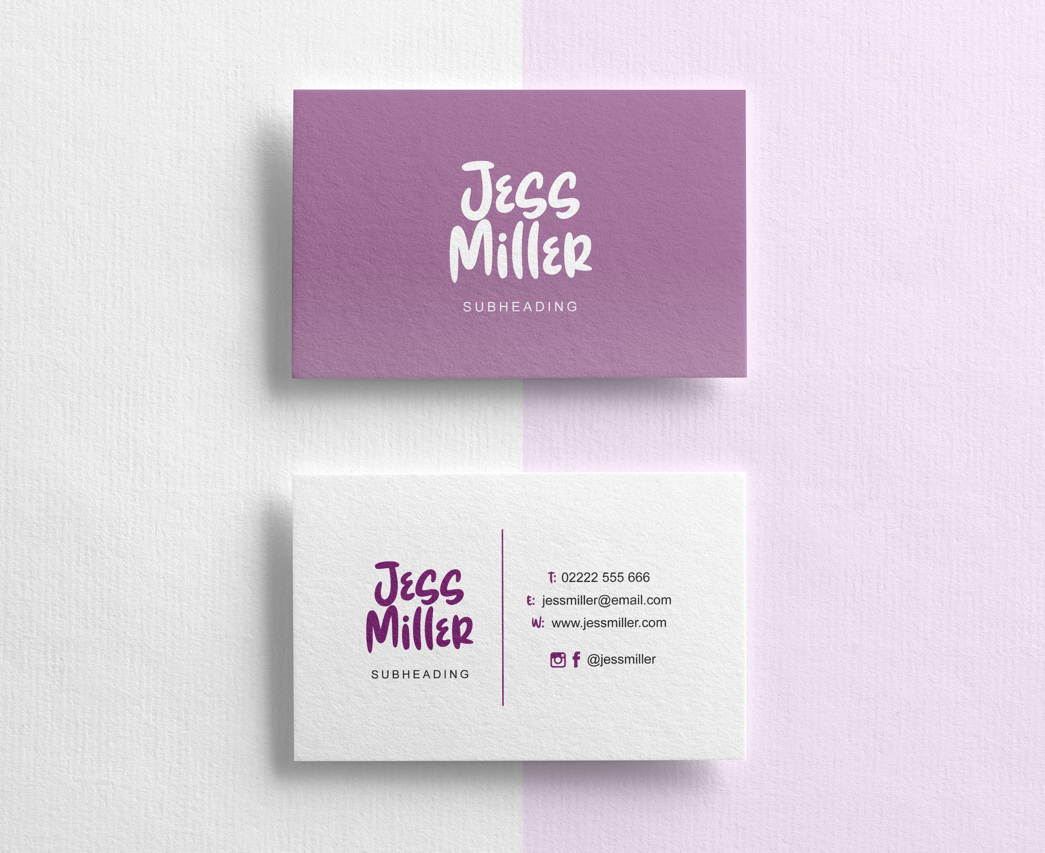 Custom Purple Business Cards Business Stationery Print Design Business Card Design Custom Business Cards Business Stationery