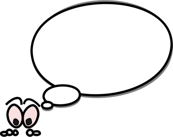 Thinking Cloud Bubble Idea Shape Picture Logo Clouds Vector Free