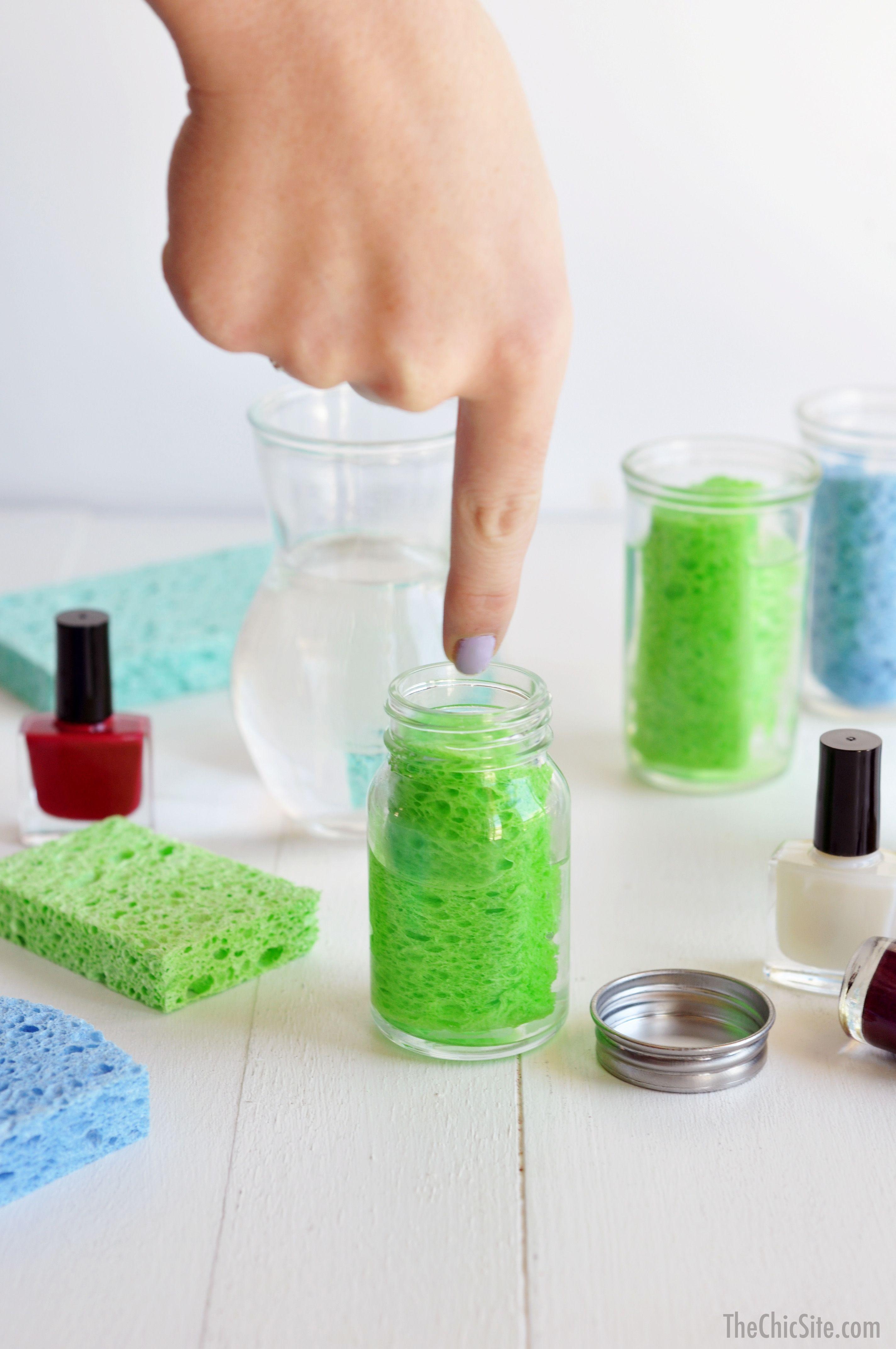 DIY Nail Polish Remover Station--the easy way to remove nail polish ...