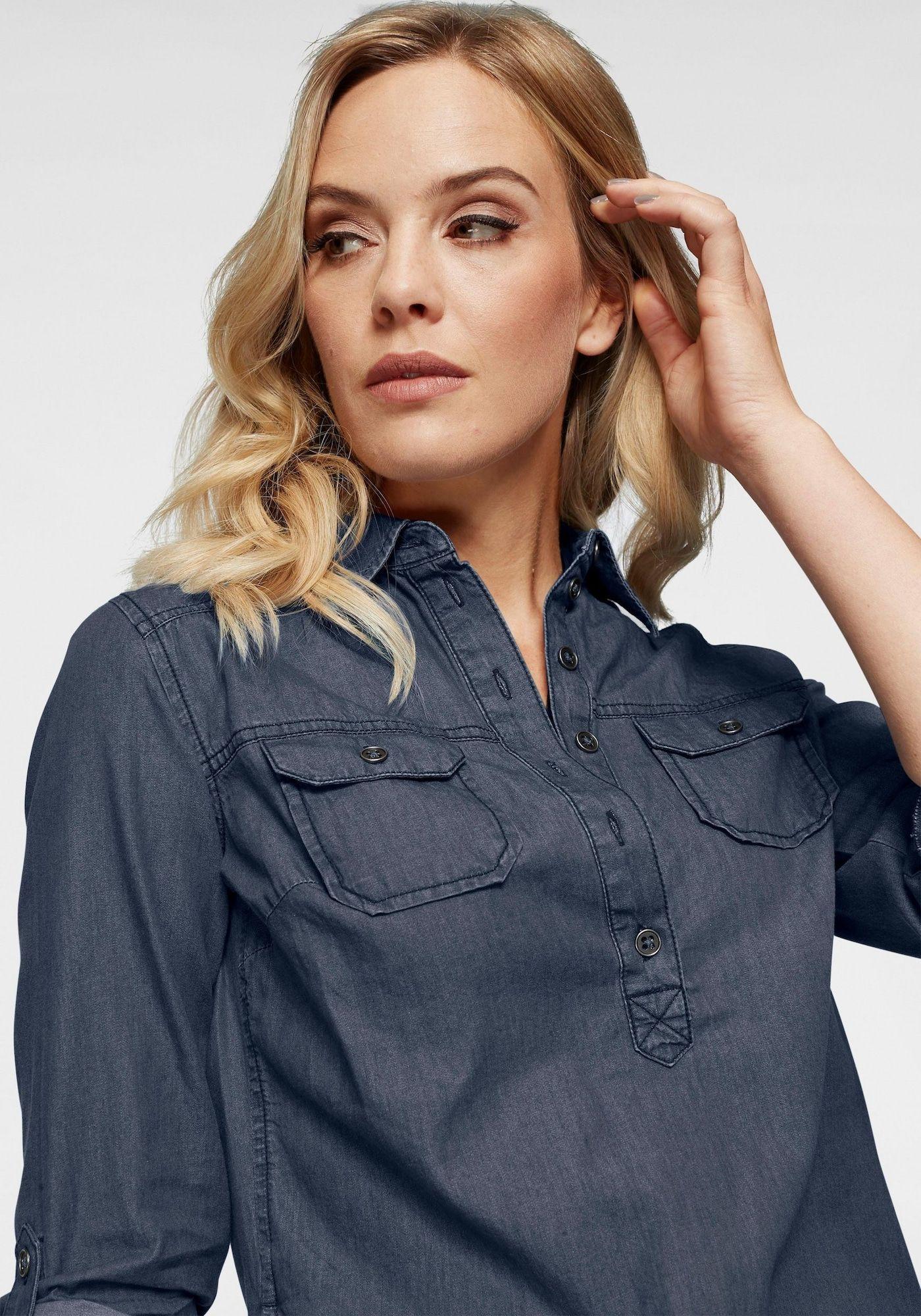 ARIZONA Jeansbluse Damen, Blue Denim, Größe L/XL   Jeans ...