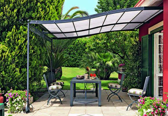 Sichtschutz Pergola Eisen Möbel Palmen Garten | Überdachung ... Gartenlaube Pergola Begrunen