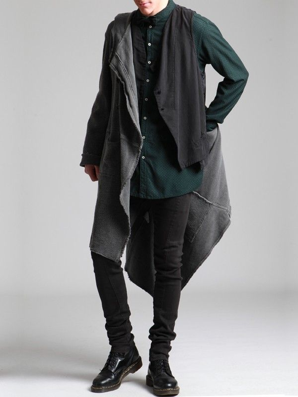 thick knit rustic coat